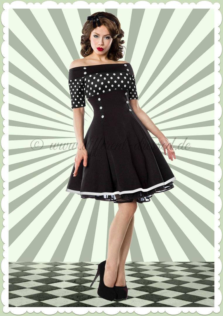 belsira 50er jahre rockabilly petticoat punkte kleid. Black Bedroom Furniture Sets. Home Design Ideas