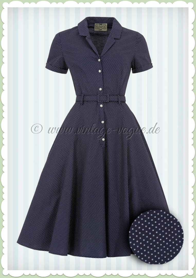 Collectif 40er Jahre Rockabilly Polka Punkte Kleid ...