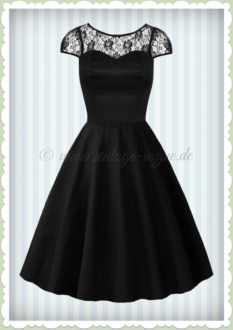 40er Mesh Spitzen Jahre Petticoat Schwarz Kleid Heartsamp; Roses Retro F1cJlK