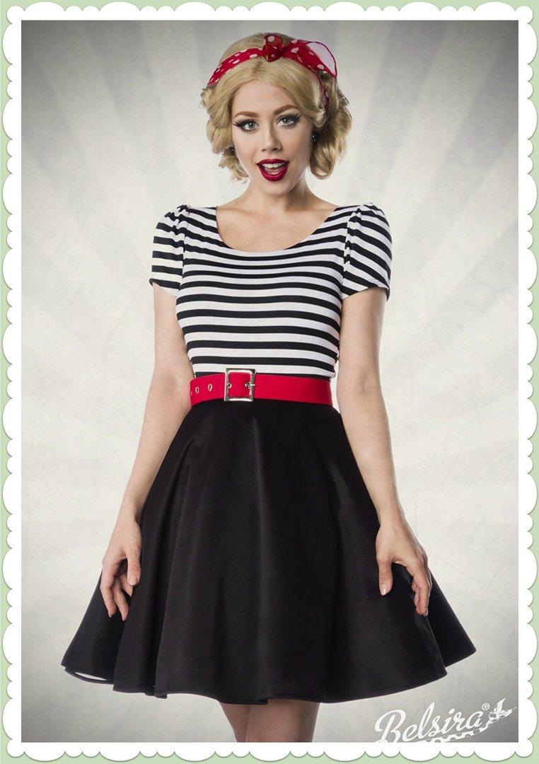 Fabelhaft Belsira 50er Jahre Rockabilly Petticoat Streifen Kleid -Lucy #XT_36