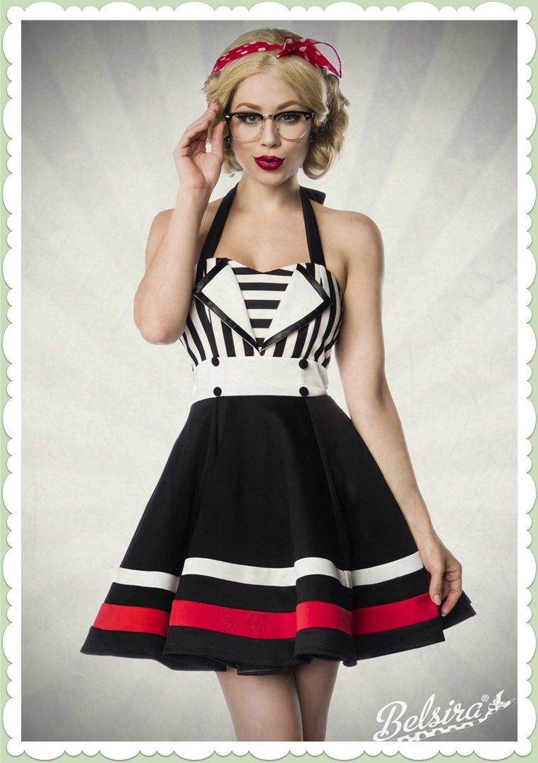 info for c981d abb40 Belsira 50er Jahre Rockabilly Petticoat Kleid - Lena - Schwarz Weiß Rot
