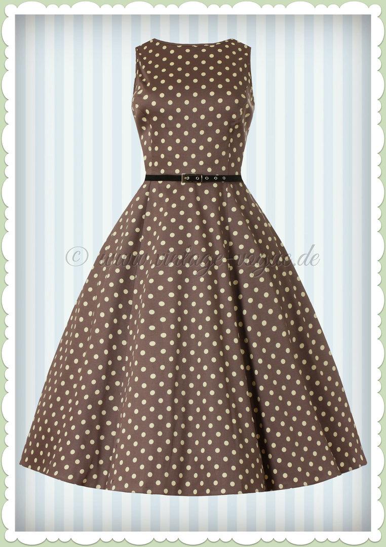 Lady Vintage 40er Jahre Vintage Punkte Kleid - Hepburn ...