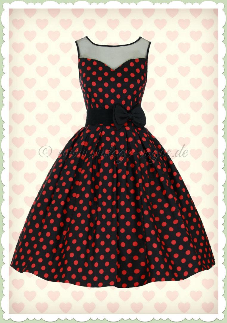 540b4d24bccf Dolly   Dotty 50er Jahre Retro Petticoat Kleid - Elisabeth - Schwarz Rot