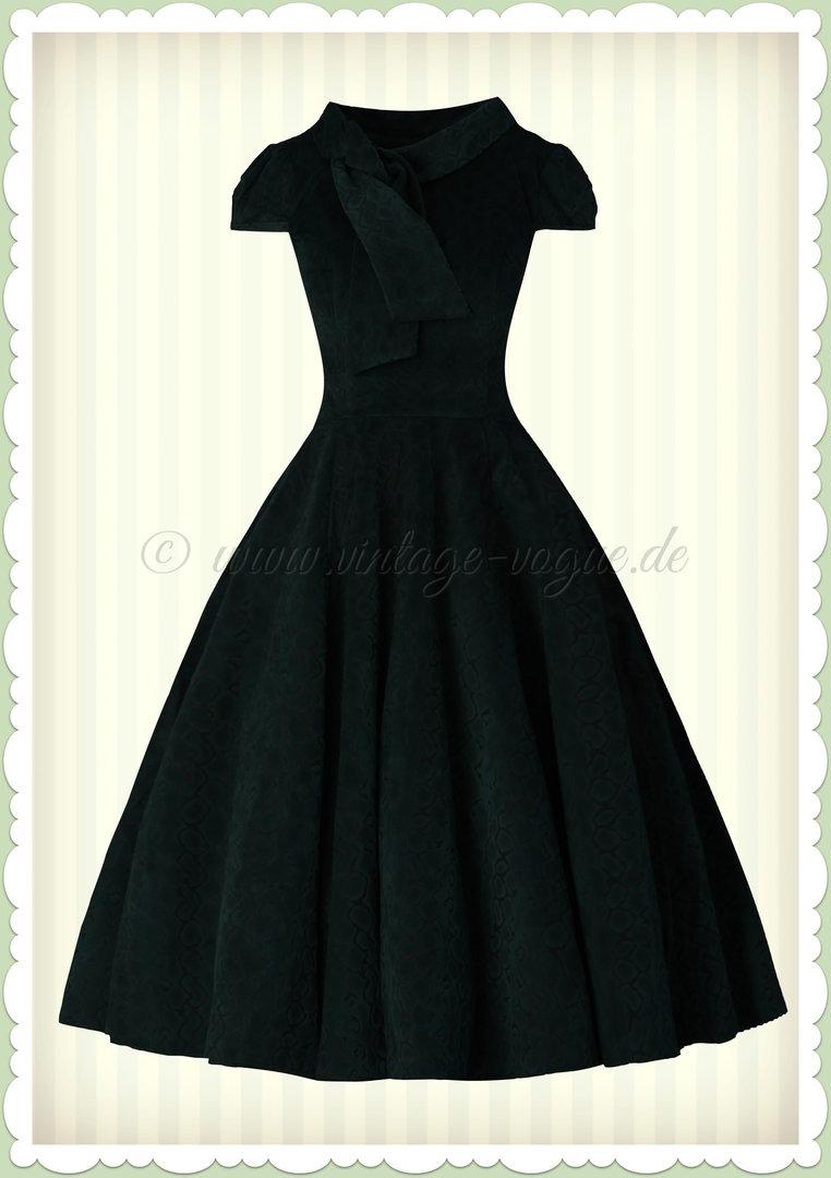Hearts & Roses 50er Jahre Samt Kleid - Diserable Velvet - Dunkelgrün