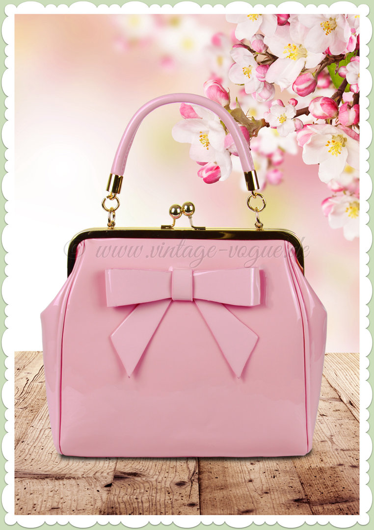cheap for discount 8d892 280a4 Banned 50er Jahre Retro Vintage Handtasche - American Vintage - Rosa