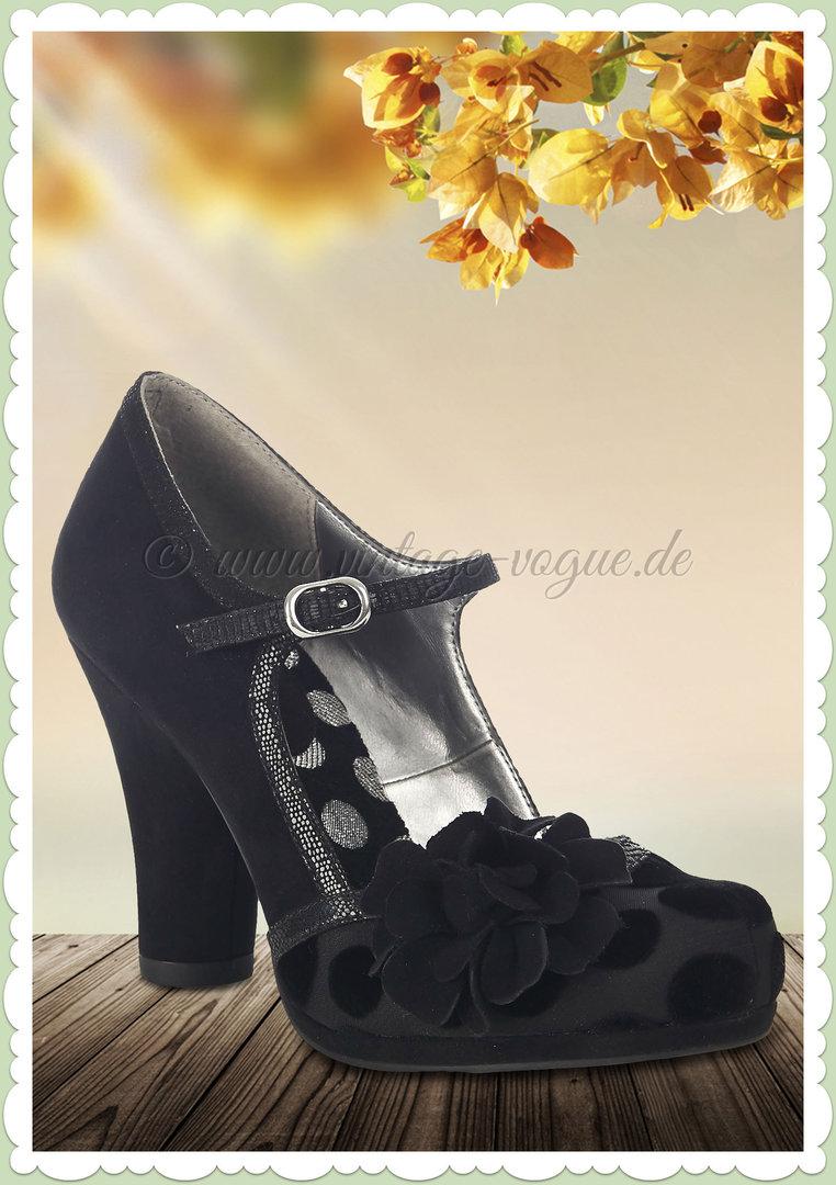 Ruby Shoo 50er Jahre Retro Vintage Schuhe Punkte Pumps Hannah Schwarz