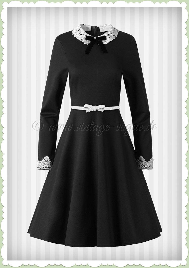 50er Hell Bunny Jahre Rockabilly Vintage Kleid Ricci Schwarz Swing jVqMGUzSLp