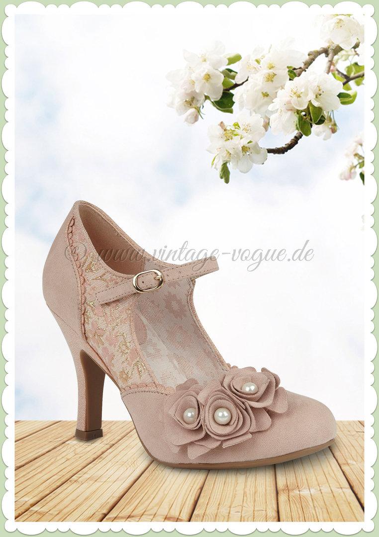 newest 9c669 3ec4f Ruby Shoo 40er Jahre Vintage Schuhe Riemchen Pumps - Antonia - Rose Gold