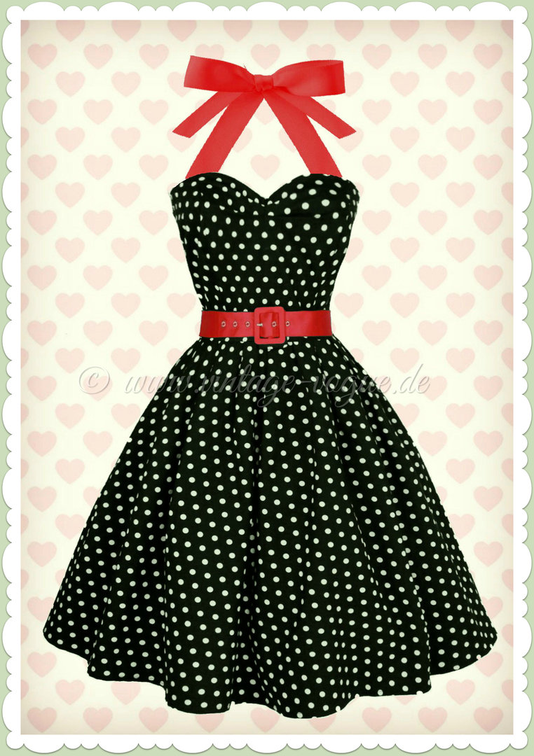 Rockabilly kleid blau gepunktet
