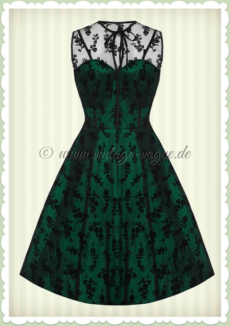 voodoo vixen 40er jahre vintage peacock swing kleid emerald gr n. Black Bedroom Furniture Sets. Home Design Ideas