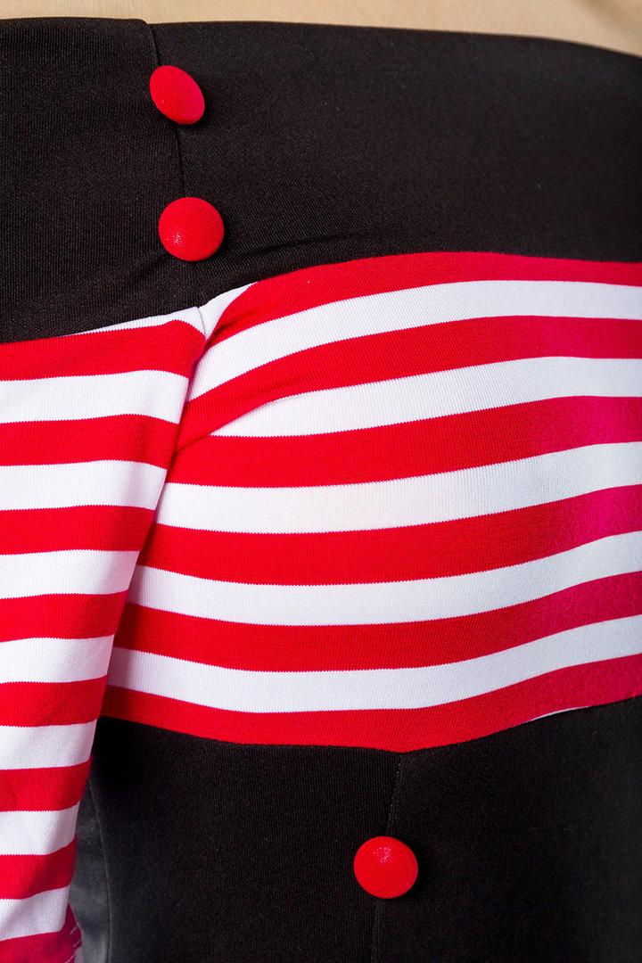4ed4705ef927 Belsira 50er Jahre Rockabilly Petticoat Kleid - Stripes - Schwarz ...