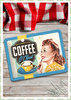 "Nostalgic Art Retro Pin Up Blechschild ""Coffee o' clock"""