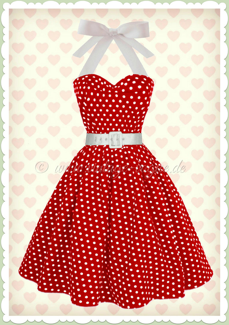 dolly dotty 50er jahre rockabilly punkte kleid sophie rot wei. Black Bedroom Furniture Sets. Home Design Ideas