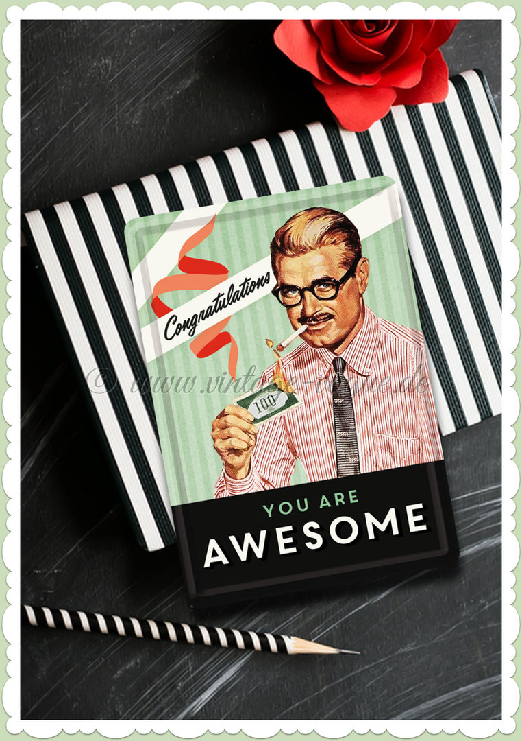 "Nostalgic Art Retro Vintage Blechpostkarte ""You are awesome"""