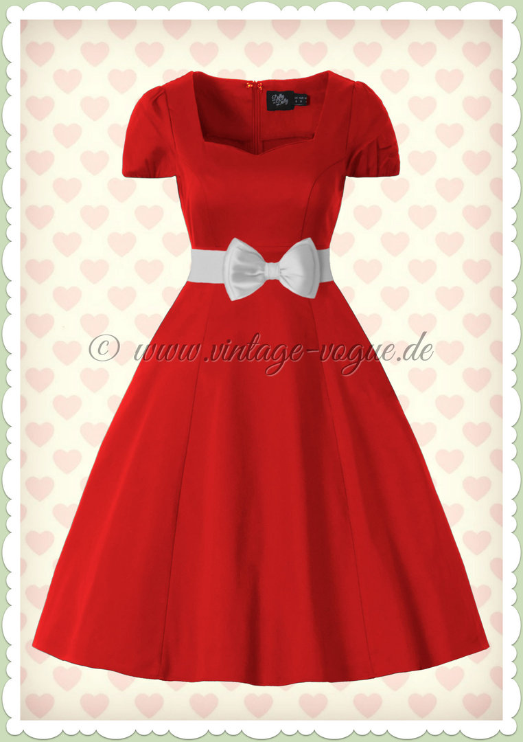 Dolly & Dotty 50er Jahre Rockabilly Petticoat Kleid - Claudia - Rot
