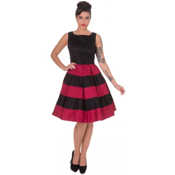 cb63ca385a72 Dolly   Dotty 50er Jahre Streifen Petticoat Kleid - Anna - Rot Schwarz