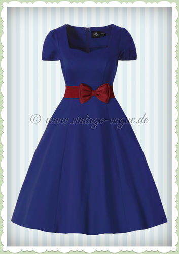 Dolly & Dotty 50er Jahre Rockabilly Petticoat Kleid - Claudia - Blau