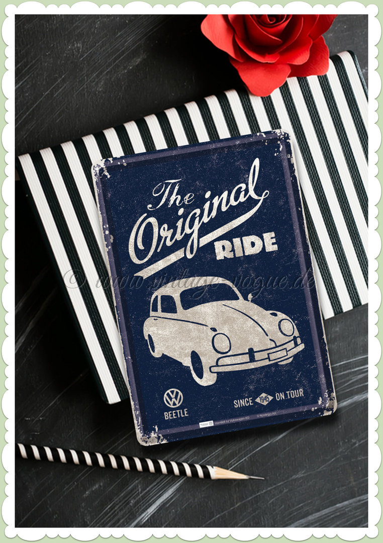 "Nostalgic Art Retro Oldtimer Blechpostkarte ""VW Beetle - the original ride"""