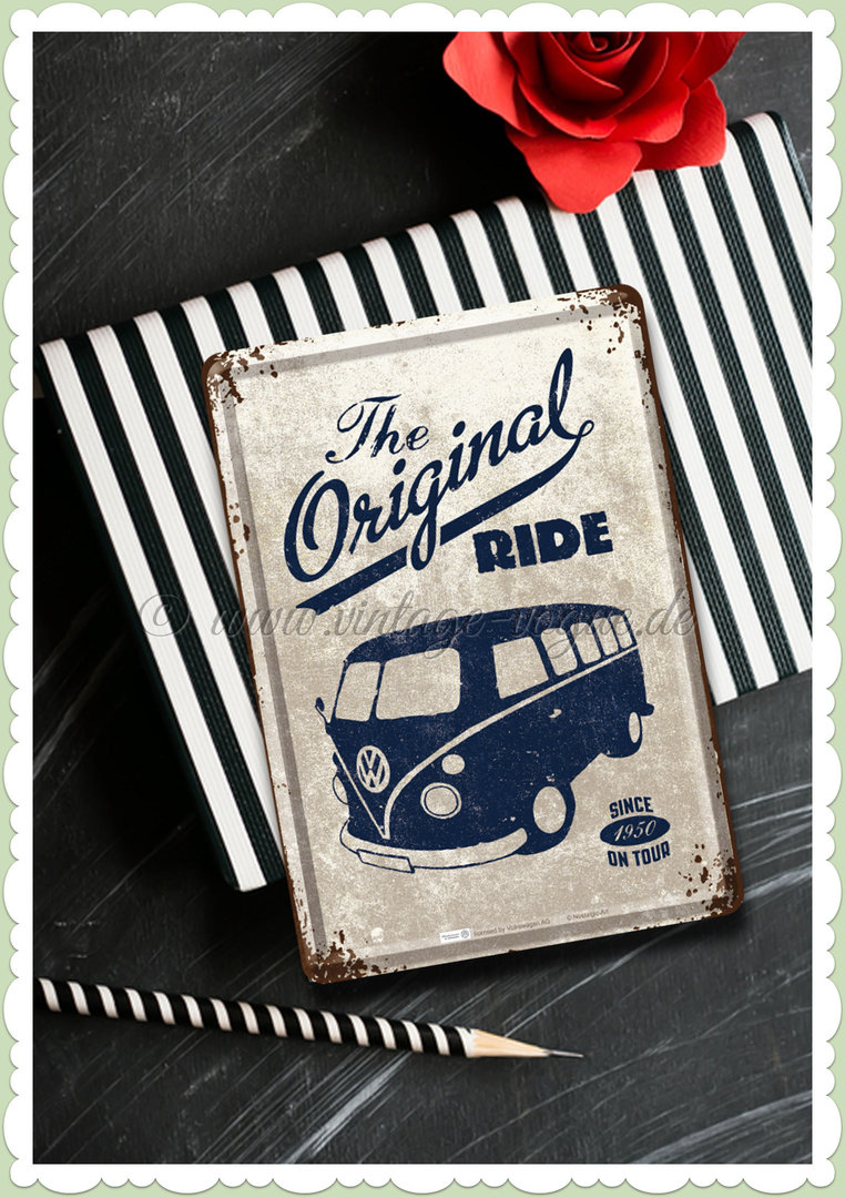 "Nostalgic Art Retro Oldtimer Blechpostkarte ""VW Bulli - the original ride"""