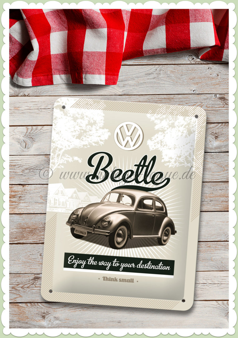 "Nostalgic Art Retro Oldtimer Blechschild ""VW Retro Beetle"""