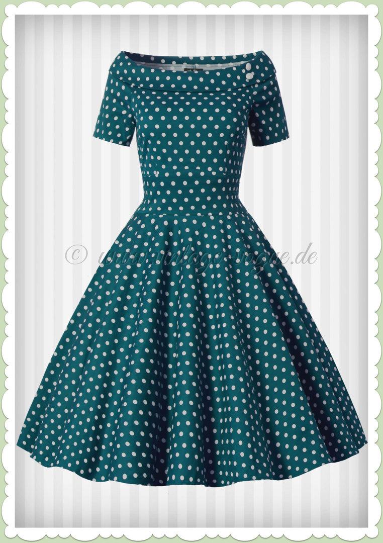grün kleid with weiß dots order b11fac 11