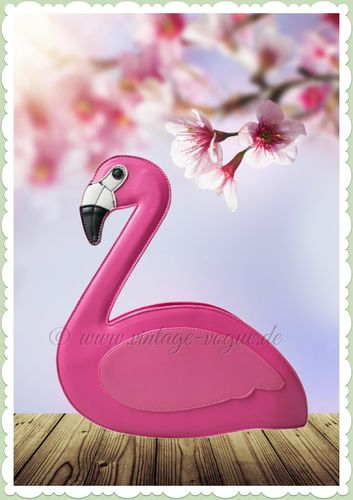 Collectif 50er Jahre Pin Up Flamingo Tasche - Grace - Pink