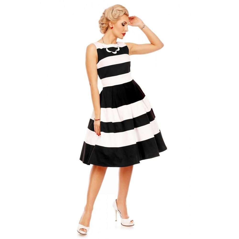 dolly & dotty 50er jahre petticoat streifen kleid - aurora