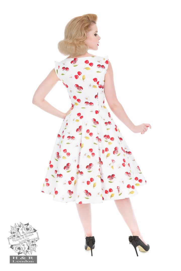 hearts roses 50er jahre vintage petticoat kleid sweet cherry wei rot. Black Bedroom Furniture Sets. Home Design Ideas