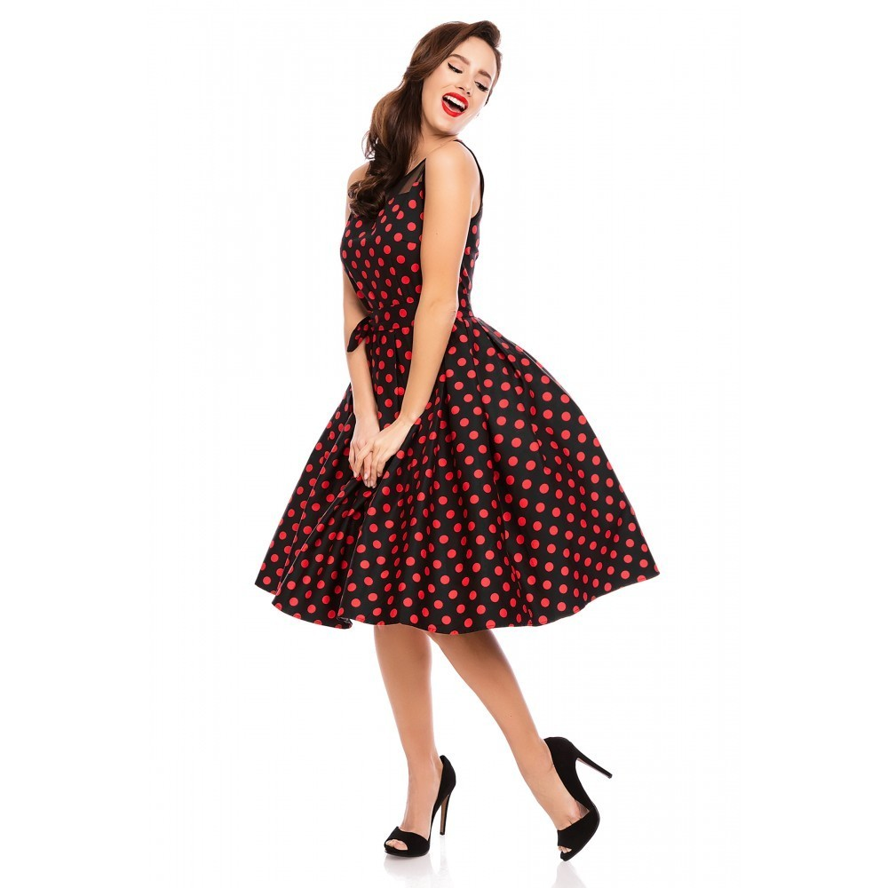 dolly dotty 50er jahre retro petticoat kleid elisabeth schwarz rot. Black Bedroom Furniture Sets. Home Design Ideas