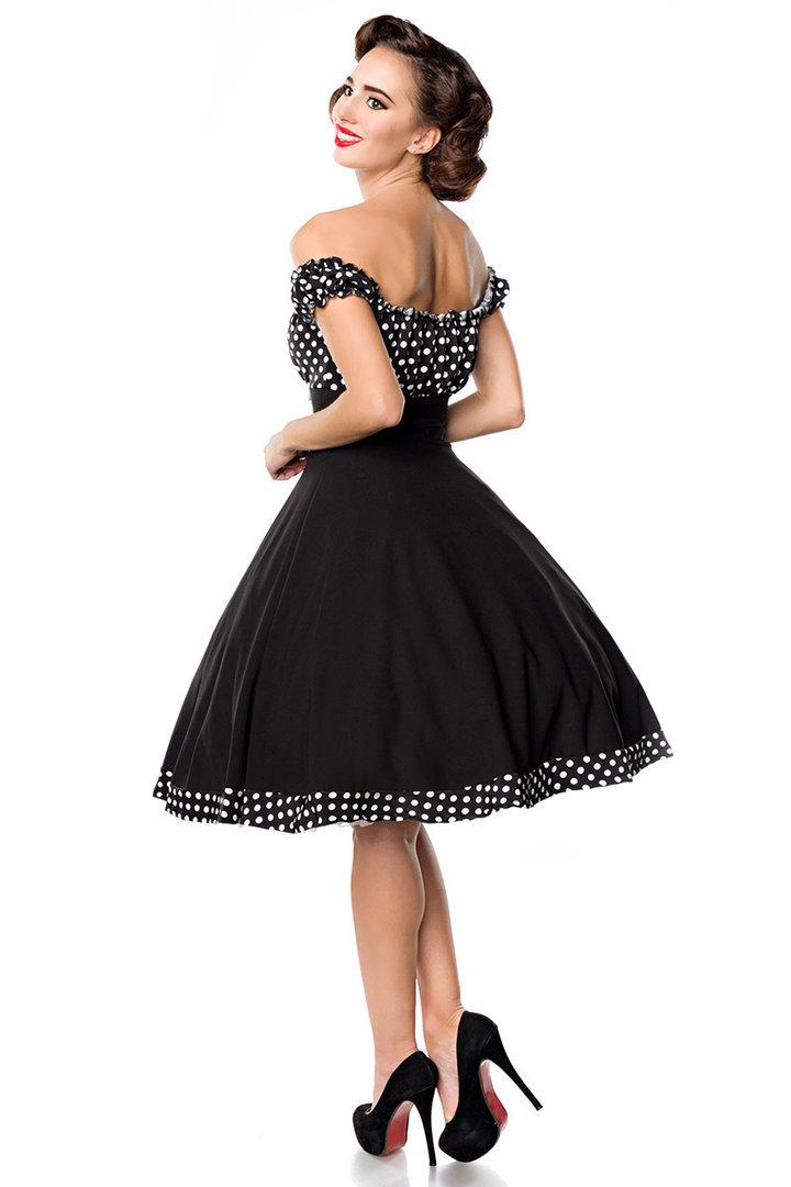 a8fff605a56e Belsira 50er Jahre Rockabilly Petticoat Kleid - Claire - Schwarz Weiß