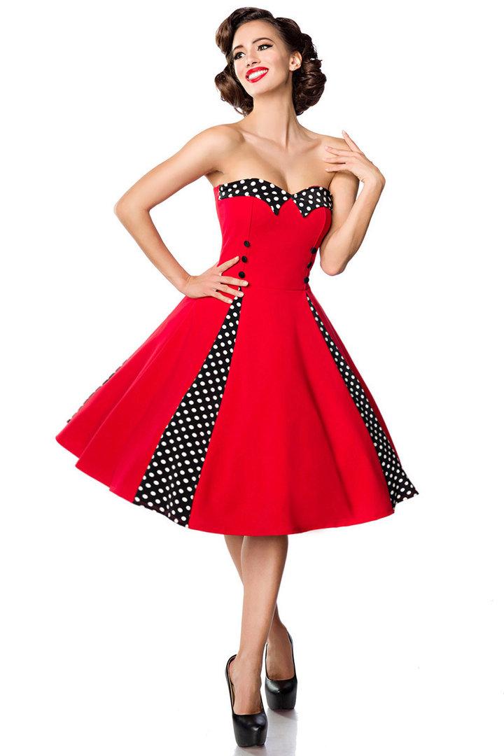 Rotes kleid mit schwarz
