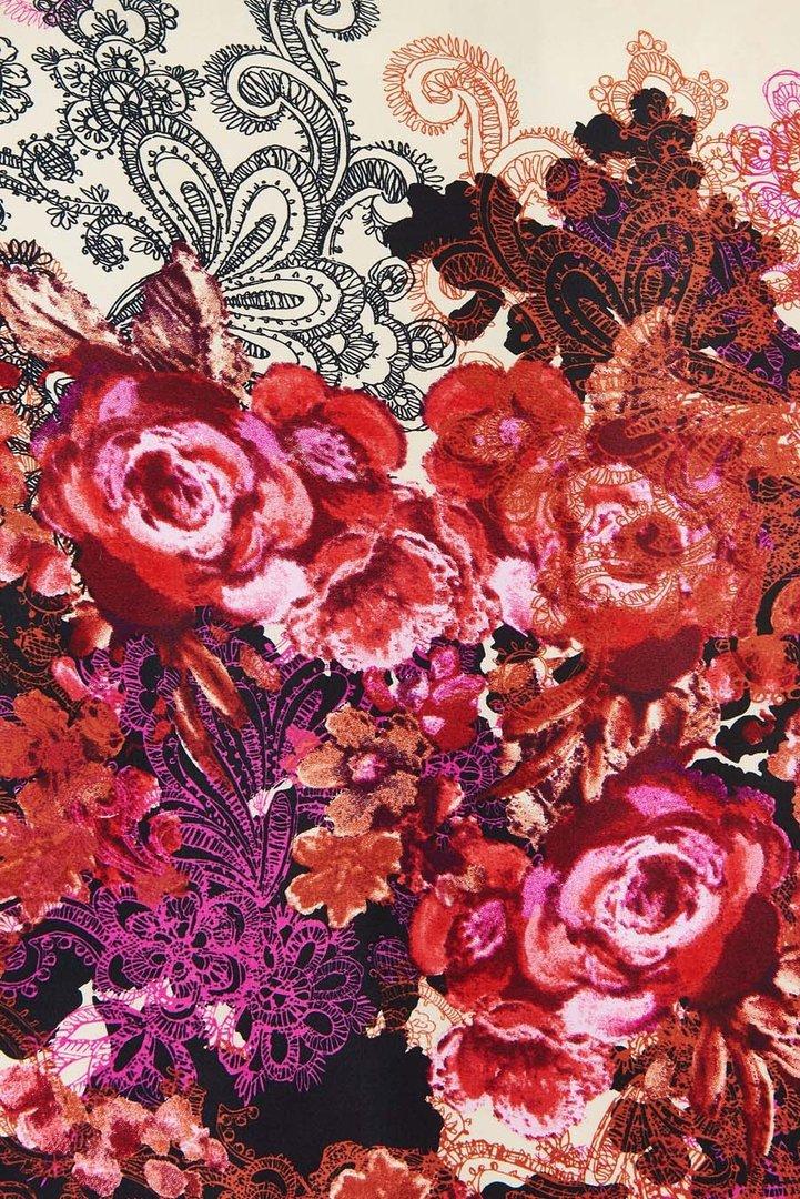 lady vintage 40er jahre vintage blumen etui kleid venus red rose. Black Bedroom Furniture Sets. Home Design Ideas