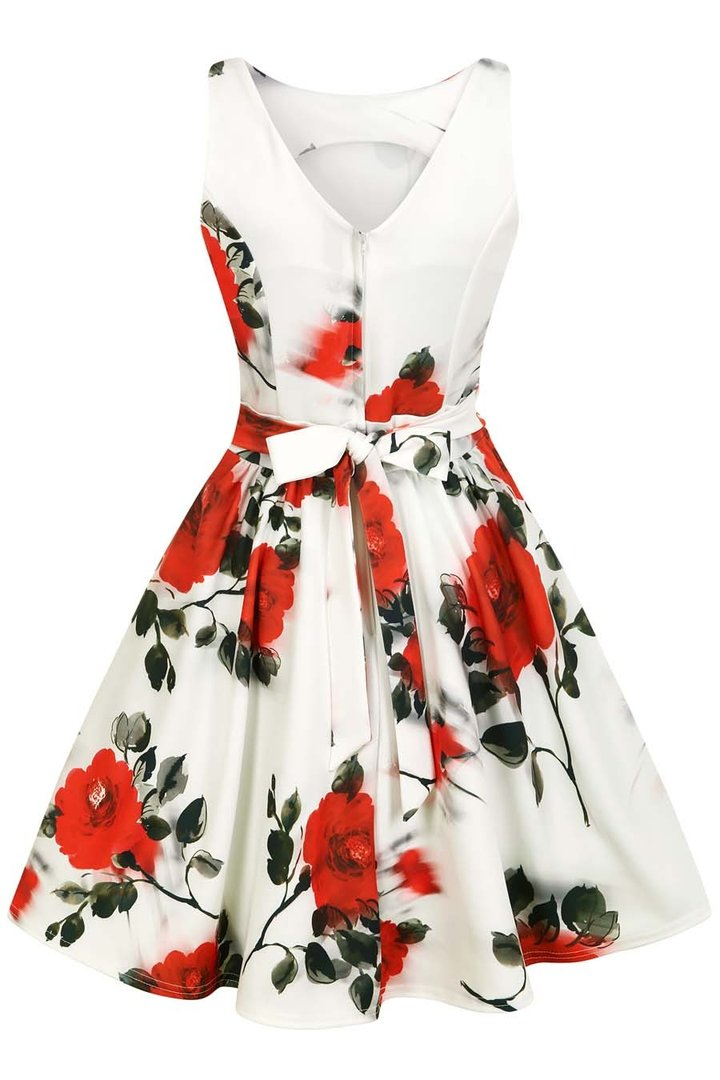 lady vintage 40er jahre vintage rosen kleid tea dress. Black Bedroom Furniture Sets. Home Design Ideas