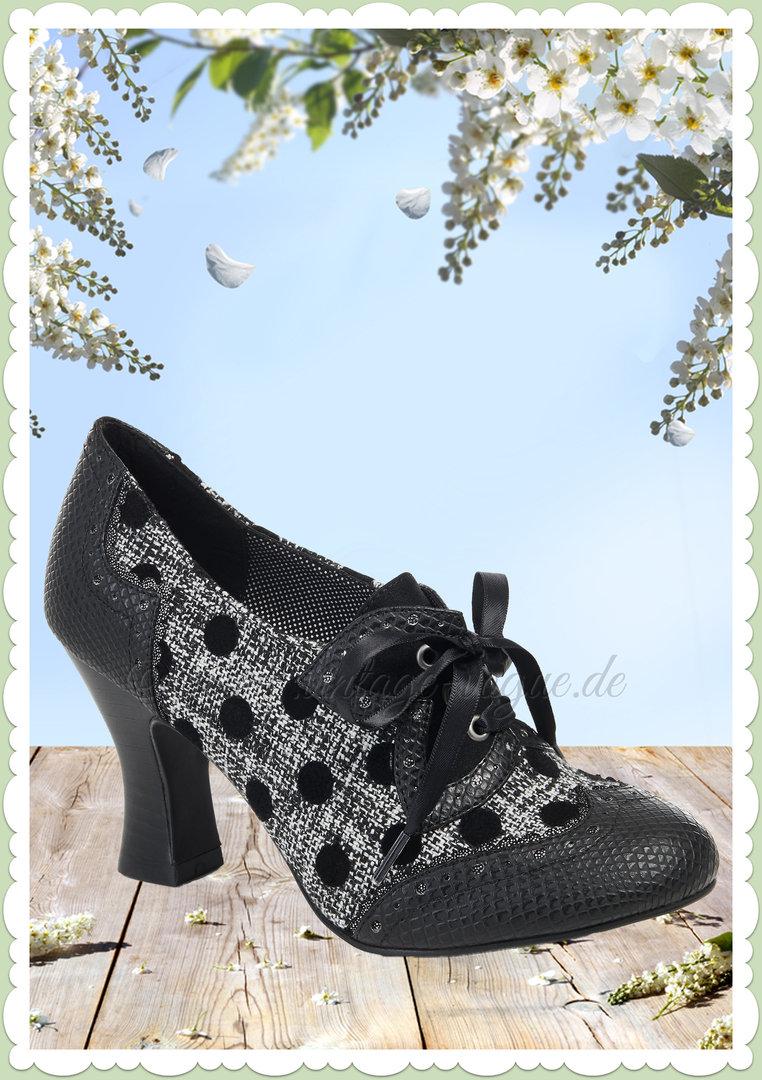 8ee6085c481afb Ruby Shoo 60er Jahre Vintage Schuhe Punkte Pumps - Daisy - Schwarz