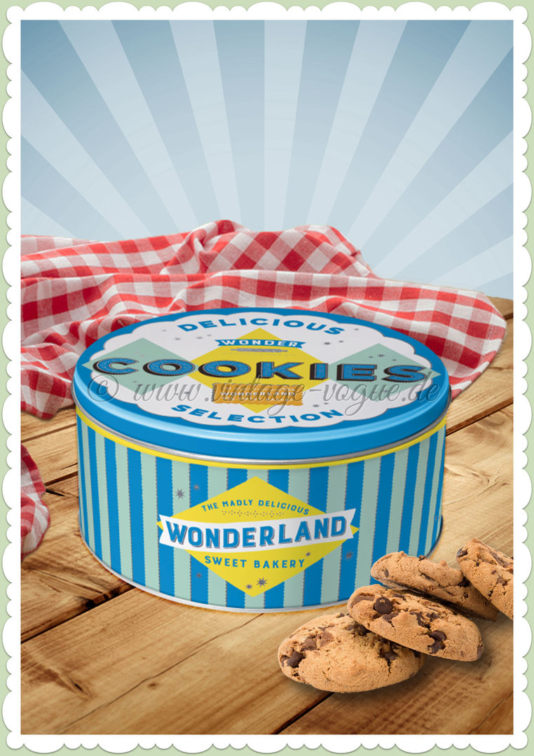 "Nostalgic Art Retro Vorratsdose Rund ""Wonder Cookies Blue"""
