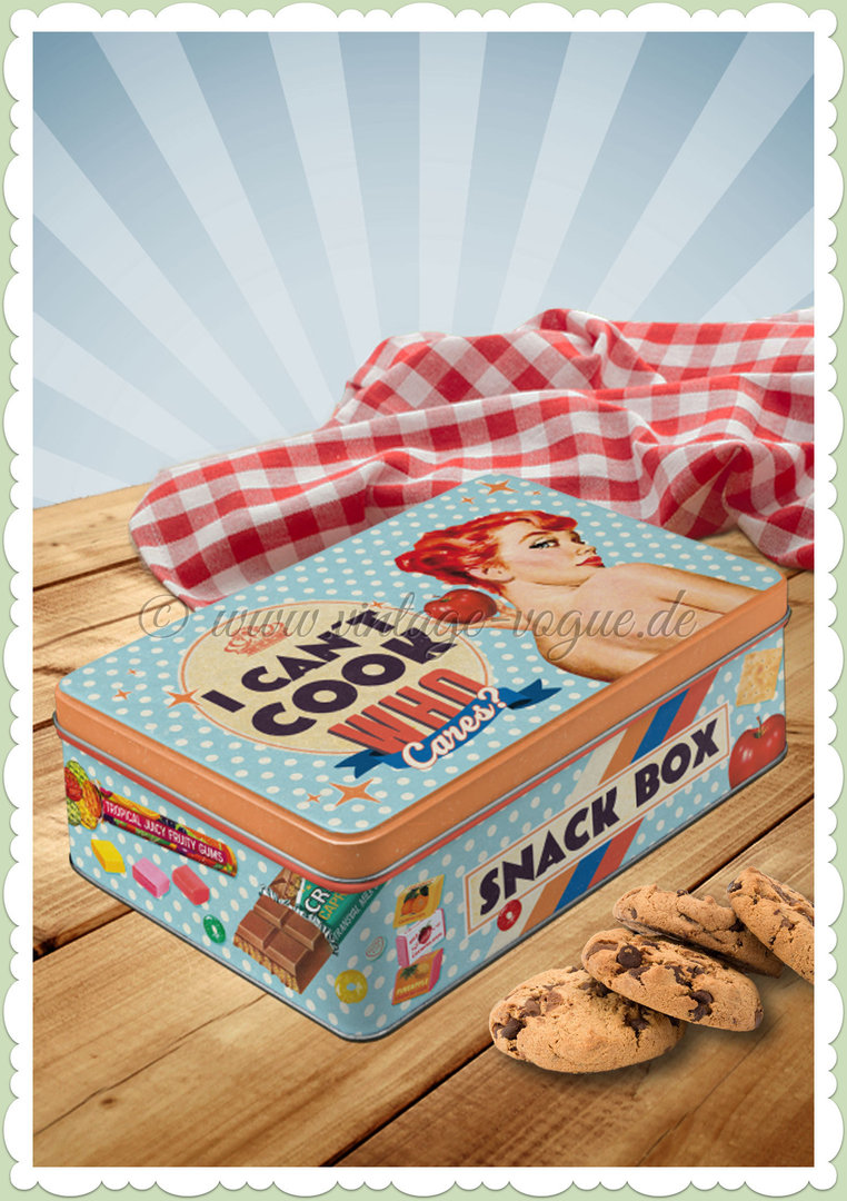"Nostalgic Art Retro Say It 50´s Vorratsdose Flach ""Can´t Cook - Snack Box"""