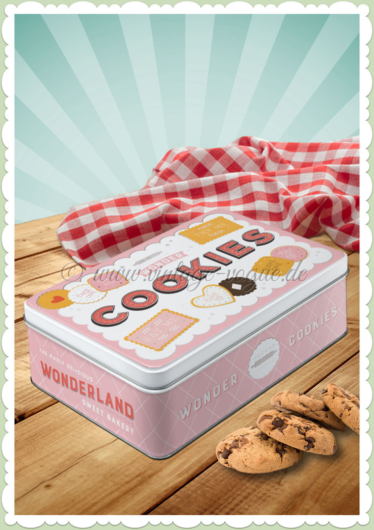 "Nostalgic Art Retro Home & Country Vorratsdose Flach ""Wonder Cookies"""