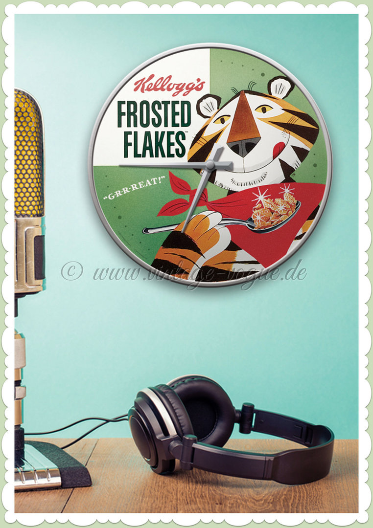 "Nostalgic Art Retro Wanduhr ""Kellogg´s Frosted Flakes Tony Tiger"""