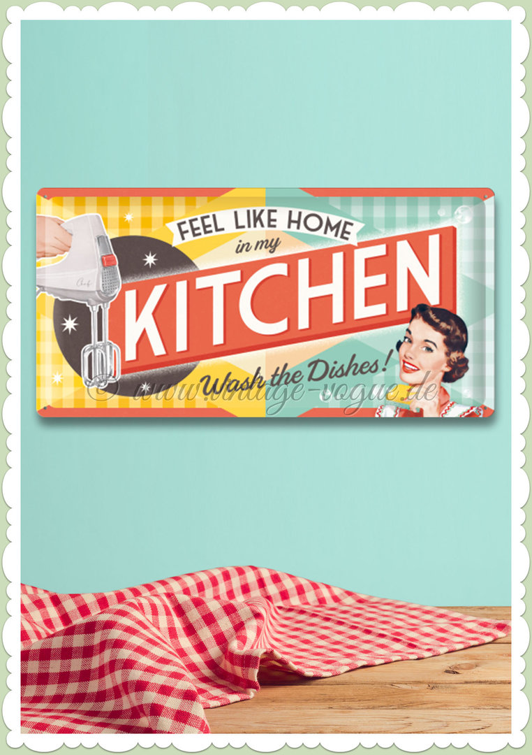 "Nostalgic Art Retro Say It 50´s Blechschild ""Kitchen"""