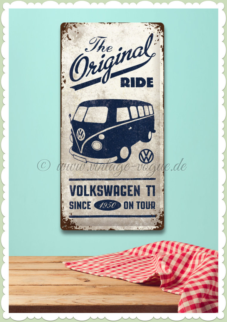 "Nostalgic Art Retro Volkswagen Blechschild ""VW Bulli - The Original Ride"""