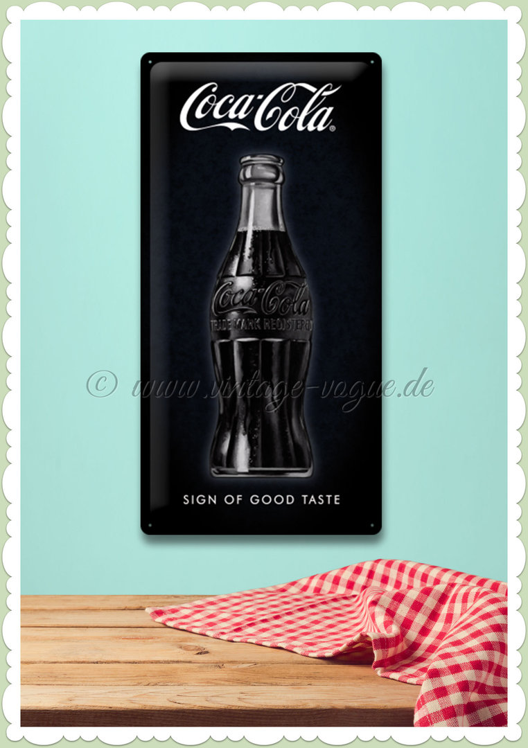 "Nostalgic Art Retro Coca Cola Blechschild ""Sign Of Good Taste"""
