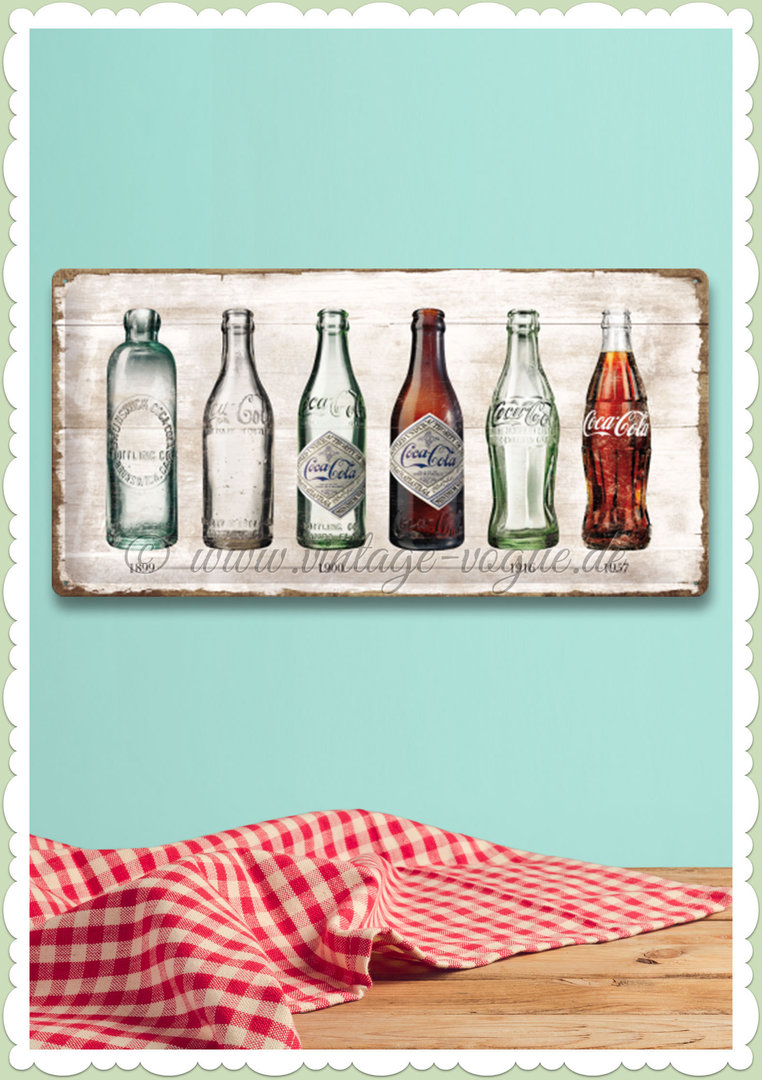 "Nostalgic Art Retro Coca Cola Blechschild ""Bottle Timeline"""