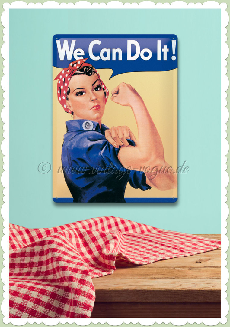 "Nostalgic Art Retro USA Blechschild ""We Can Do It"""