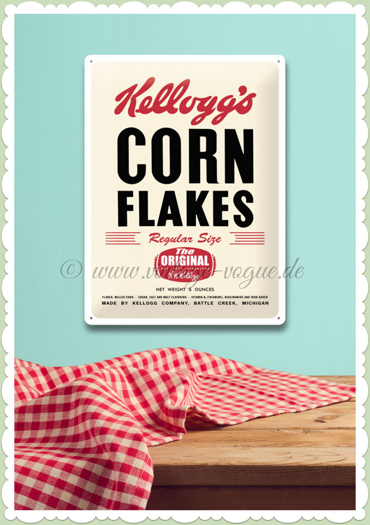 "Nostalgic Art Retro Kellogg´s Blechschild ""Corn Flakes Retro Package"""