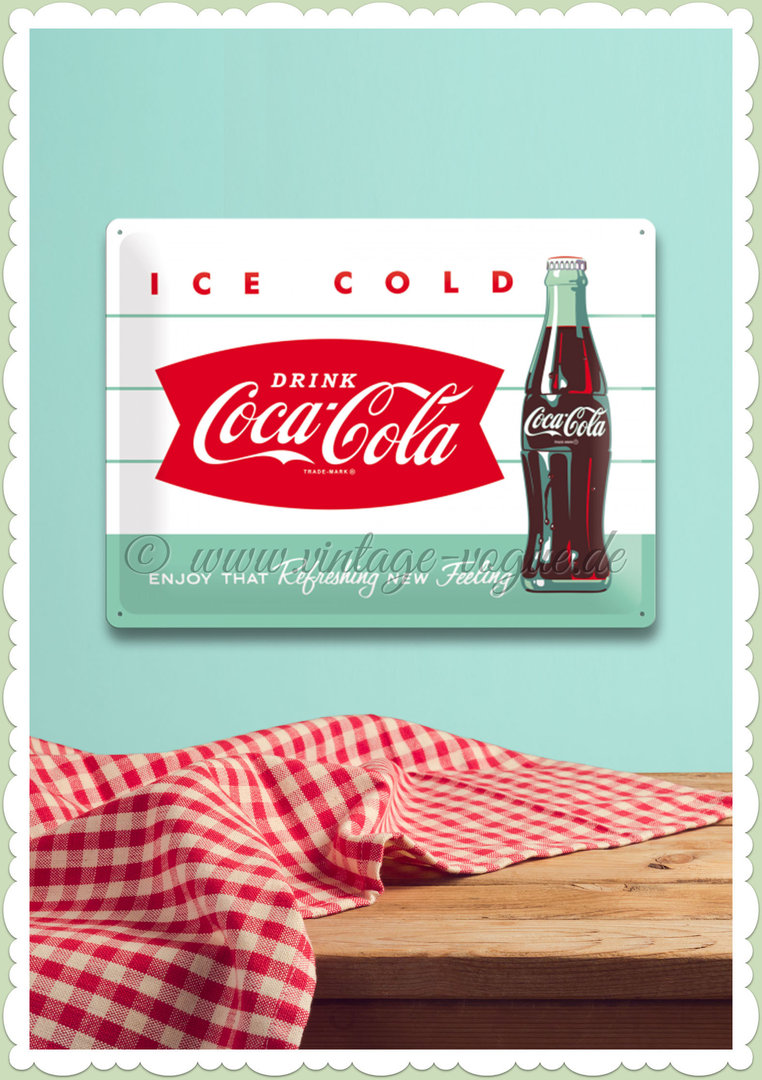 "Nostalgic Art Retro Coca Cola Blechschild ""Diner Bottle"""