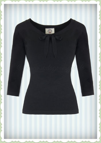 Banned 40er Jahre Retro Schluppen Jumper - Pretty Illusion - Schwarz