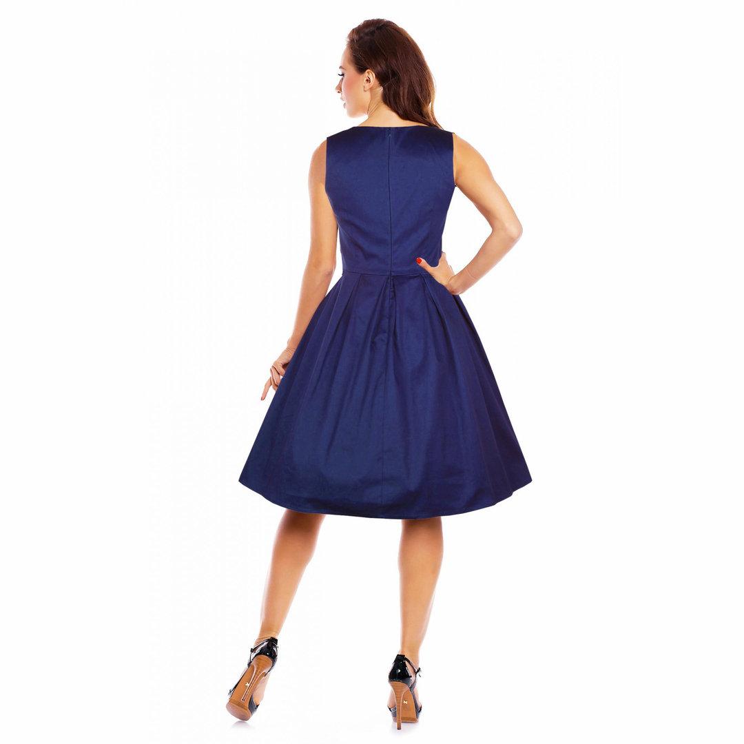 Jahre Dotty Lola Vintage Retro Petticoat Dollyamp; Navyblau 50er Kleid FK1TclJ