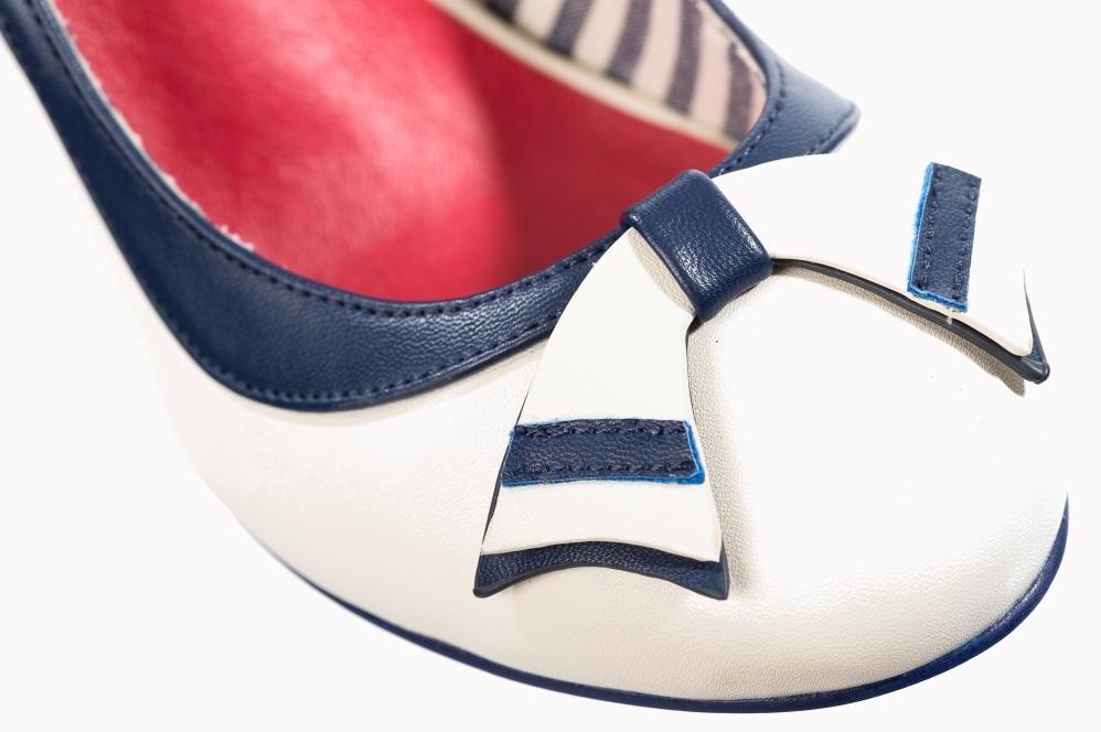 Banned 50er Jahre Maritime Retro Schuhe Pumps Sparkle
