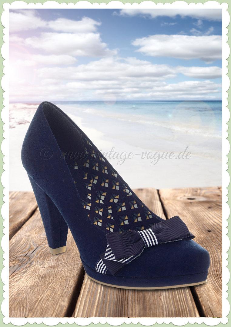 Ruby Shoo 50er Jahre Retro Vintage Schuhe Schleifen Pumps - Susanna - Blau 22c0c2975f