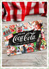 "Nostalgic Art Retro Pin Up Blechschild ""Coca-Cola - Collage"""
